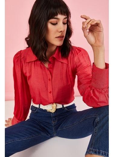 ESQ Düğmeli Gömlek Kırmızı